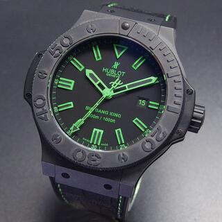 ウブロ(HUBLOT)の超美品 ウブロ ビッグ・バン キング 300m防水 セラミック グリーン  (腕時計(アナログ))