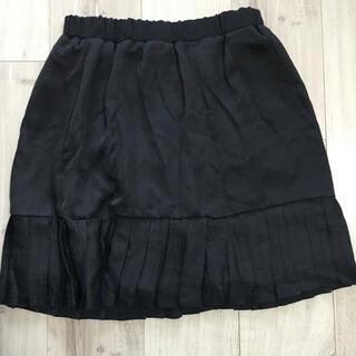 ジーナシス(JEANASIS)のJEANASISリバーシブルプリーツスカート黒(ひざ丈スカート)