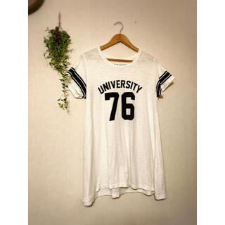 バックナンバー(BACK NUMBER)のBACK NAMBER Tシャツ ロングTシャツ 白(Tシャツ(半袖/袖なし))