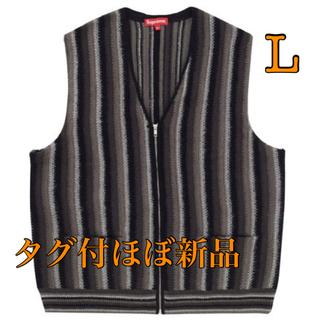 シュプリーム(Supreme)のシュプリーム Stripe Sweater Vest Lサイズ ブラック(ニット/セーター)