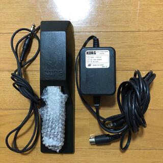 KORGシンセサイザー用電源アダプター&ペダル(キーボード/シンセサイザー)