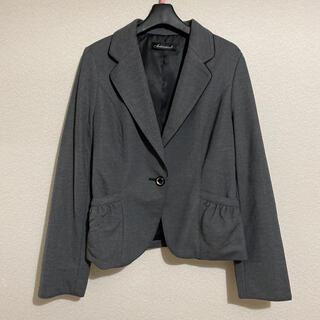 シマムラ(しまむら)のテーラードジャケット リボン グレー Lサイズ(テーラードジャケット)