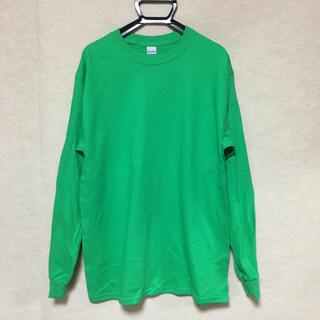 ギルタン(GILDAN)の新品 GILDAN ギルダン 長袖ロンT アイリッシュグリーン 緑 M(Tシャツ/カットソー(七分/長袖))