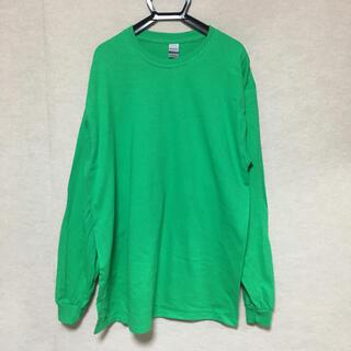 ギルタン(GILDAN)の新品 GILDAN ギルダン 長袖ロンT アイリッシュグリーン 緑 L(Tシャツ/カットソー(七分/長袖))