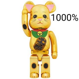 メディコムトイ(MEDICOM TOY)のBE@RBRICK 招き猫 金メッキ 発光 1000% ベアブリック(その他)