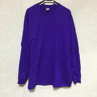 ギルタン(GILDAN)の新品 GILDAN ギルダン 長袖ロンT パープル 紫 M(Tシャツ/カットソー(七分/長袖))
