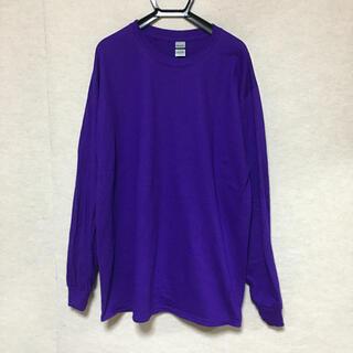 ギルタン(GILDAN)の新品 GILDAN ギルダン 長袖ロンT パープル 紫 L(Tシャツ/カットソー(七分/長袖))
