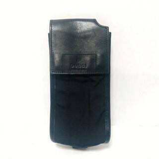 グッチ(Gucci)のGUCCI(グッチ) 携帯電話ケース - 黒(モバイルケース/カバー)