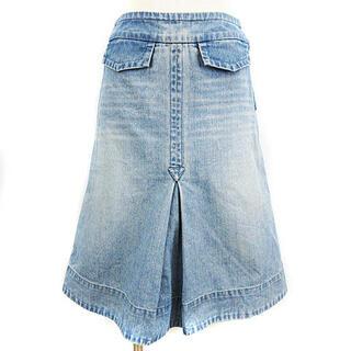 マークジェイコブス(MARC JACOBS)のマークジェイコブス デニム スカート ひざ丈 ミモレ フレア ブルー 2(ひざ丈スカート)