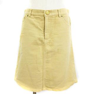 マークジェイコブス(MARC JACOBS)のマークジェイコブス スカート ひざ丈 台形 ピーチスキン ベージュ 2 IBO9(ひざ丈スカート)
