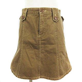 マークジェイコブス(MARC JACOBS)のマークジェイコブス スカート ひざ丈 ツイル 台形 ブラウン 茶 2 IBO9(ひざ丈スカート)