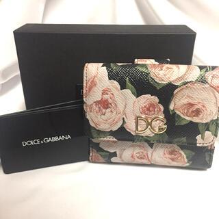 ドルチェアンドガッバーナ(DOLCE&GABBANA)の【値下】DOLCE&GABBANA 薔薇 フラワー ミニ財布 ブラック ドルガバ(財布)