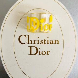 クリスチャンディオール(Christian Dior)のクリスチャンディオール 💛 ヴィンテージ クリア リング(リング(指輪))