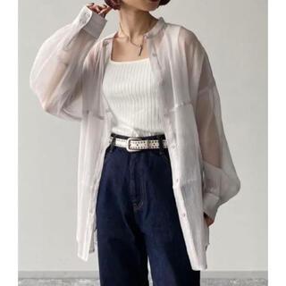 ページボーイ(PAGEBOY)のシアーヨウリュウバンドカラーシャツ シアーシャツ PAGEBOY(シャツ/ブラウス(長袖/七分))