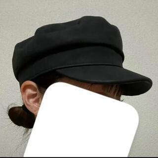 カシータ(casiTA)の【新品】早いもの勝ち 韓国風 キャスケット ブラック黒 帽子紫外線対策 男女兼用(キャスケット)