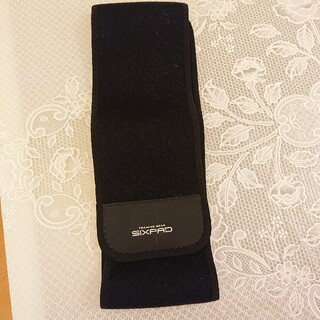 シックスパッド(SIXPAD)のSIXPAD 太ベルト シックスパッド シックスパット 黒 ブラック(ボディケア/エステ)