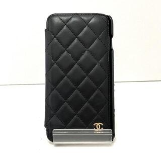 シャネル(CHANEL)のシャネル 携帯電話ケース マトラッセ 黒(モバイルケース/カバー)