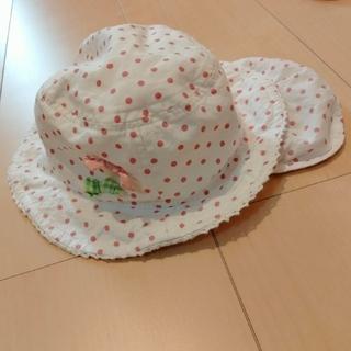 ニシマツヤ(西松屋)の帽子 ベビー帽子 ドット リボン 48cm(帽子)