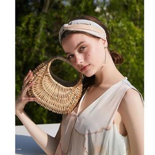 エイミーイストワール(eimy istoire)の大人気完売品 eimy istoire ピクニックバッグ beige(かごバッグ/ストローバッグ)