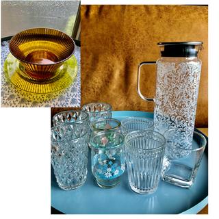 フランフラン(Francfranc)のFrancfrancピッチャー・グラス8コ・プラスチックのお皿セット(グラス/カップ)