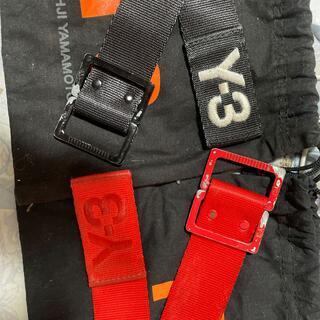 ワイスリー(Y-3)のゆゆ様専用(取り置き)Y-3ロングベルト130cm(L)RED/BLACKセット(ベルト)
