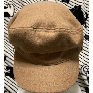 セシルマクビー(CECIL McBEE)の【セシルマクビー CECIL McBEE】ベージュキャスケットCAP帽子(キャスケット)