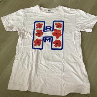 HOLLYWOOD RANCH MARKET - ハリウッドランチマーケット tシャツ hrm ピンク L 日本製 聖林公司 夏