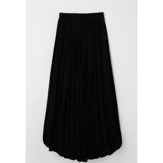エンフォルド(ENFOLD)の新品タグ付き ENFOLD エンフォルド 天竺バルーンスカート黒(ロングスカート)