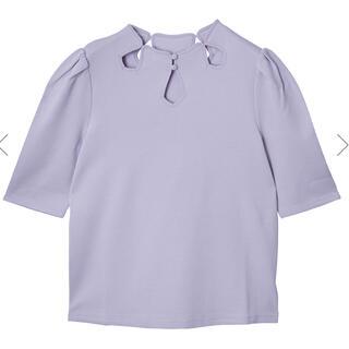 アメリヴィンテージ(Ameri VINTAGE)のAMERI VINTAGE  CROWN WAFFLE TOP パープル(Tシャツ/カットソー(半袖/袖なし))