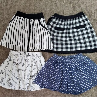 アズールバイマウジー(AZUL by moussy)のAZUL  ZARA 女の子 120~130  キュロット スカート 4枚セット(スカート)