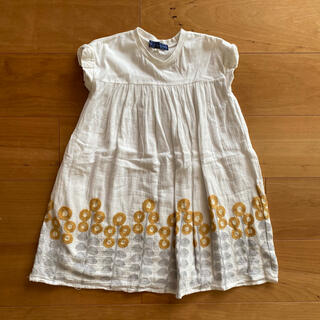 エスティークローゼット(s.t.closet)のリトルエスティ 刺繍ワンピース 白 120(ワンピース)