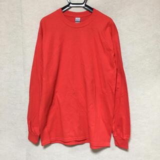 ギルタン(GILDAN)の新品 GILDAN ギルダン 長袖ロンT レッド 赤 M(Tシャツ/カットソー(七分/長袖))