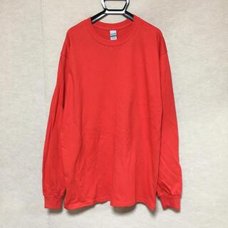 ギルタン(GILDAN)の新品 GILDAN ギルダン 長袖ロンT レッド 赤 L(Tシャツ/カットソー(七分/長袖))