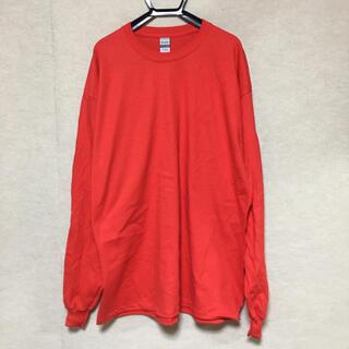 ギルタン(GILDAN)の新品 GILDAN ギルダン 長袖ロンT レッド 赤 XL(Tシャツ/カットソー(七分/長袖))