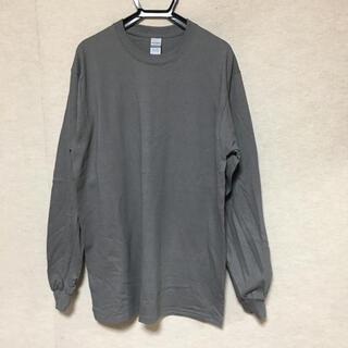 ギルタン(GILDAN)の新品 GILDAN ギルダン 長袖ロンT チャコールグレー M(Tシャツ/カットソー(七分/長袖))