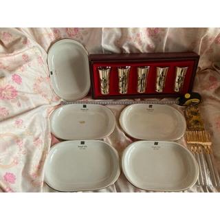 メルヘンチック キラキラ カップ 5客×5枚 セット 向日葵 カリフォルニア(食器)