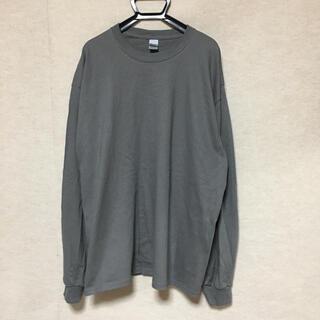 ギルタン(GILDAN)の新品 GILDAN ギルダン 長袖ロンT チャコールグレー XL(Tシャツ/カットソー(七分/長袖))