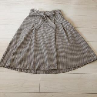 インデックス(INDEX)のチェック フレアスカート(ひざ丈スカート)