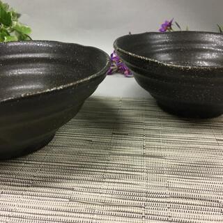 美濃焼 黒ブルーマット18cm 彩鉢 2個 磁器(食器)