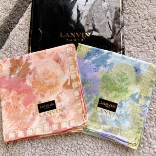 ランバン(LANVIN)の新品未使用 ランバン ハンカチ 2枚セット(ハンカチ)
