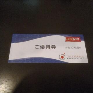 極楽湯 株主優待券1冊(入場券7枚、ドリンク券2枚)(その他)