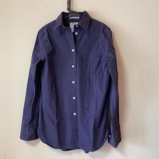 マディソンブルー(MADISONBLUE)のマディソンブルー ユーズド加工シャツ ネイビー(シャツ/ブラウス(長袖/七分))