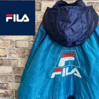 FILA - ●フィラ● 中綿ジャケット ベンチコート ワンポイントロゴ ビッグサイズ