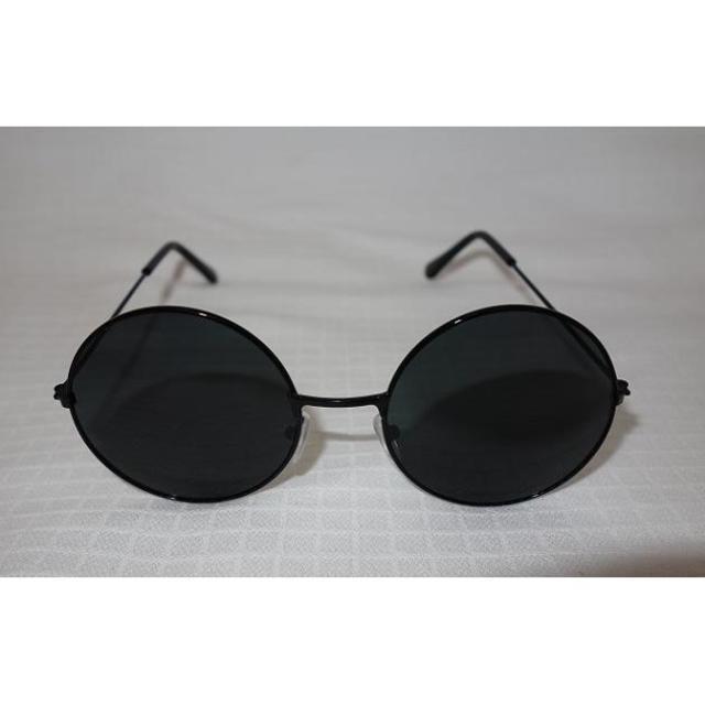 【即購入OK】 丸メガネ  ブラック レディースのファッション小物(サングラス/メガネ)の商品写真