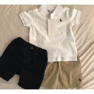 ラルフローレンポロシャツ&パンツ2枚目set◡̈*.。80