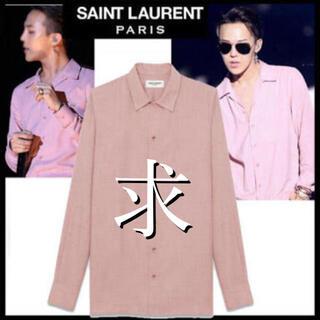 サンローラン(Saint Laurent)の14ss saint laurent サンローラン ピンクシャツ(シャツ)