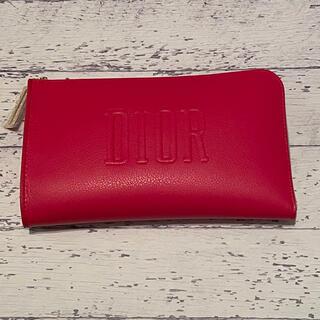 ディオール(Dior)の国内百貨店入手 DIOR ディオール ノベルティ レッド ポーチ(ノベルティグッズ)