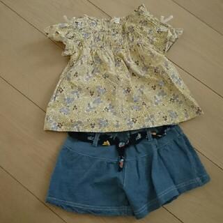 サンカンシオン(3can4on)の花柄 90セット(Tシャツ/カットソー)