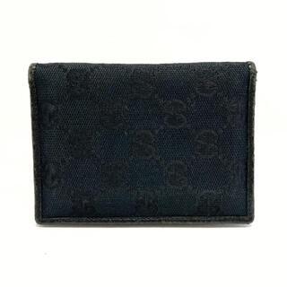 グッチ(Gucci)のGUCCI(グッチ) カードケース GG柄 04009 黒(名刺入れ/定期入れ)