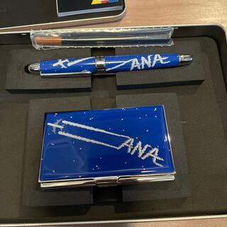 エーエヌエー(ゼンニッポンクウユ)(ANA(全日本空輸))のB787  就航記念 ACME ペン カードケースセット ANA(航空機)